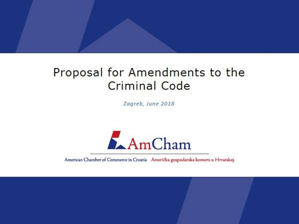New position paper: Proposal for Amendments to the Criminal Code