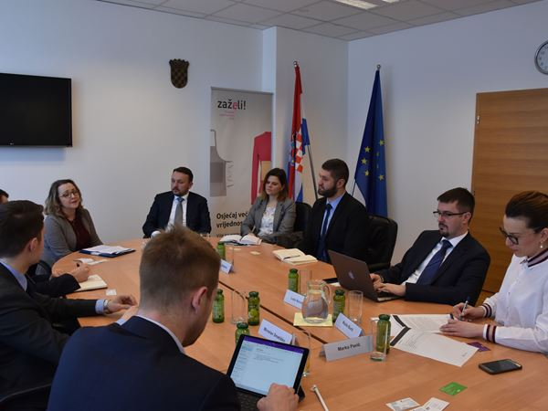 Meeting with Majda Burić the State Secretary at the Ministry Labor and Pension System