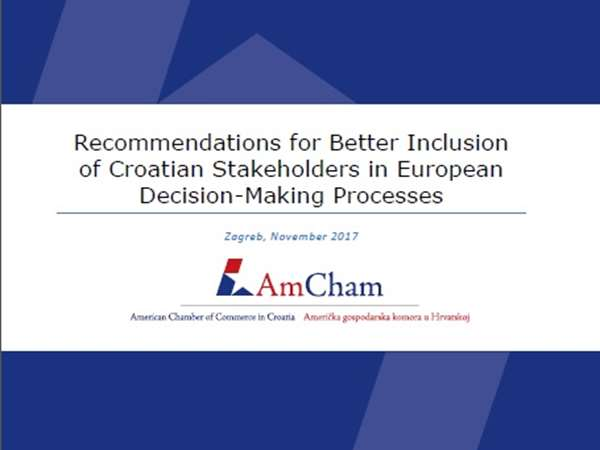 New Position paper: Recommendations for Better Inclusion of Croatian Stakeholders in European Decision-Making Processes