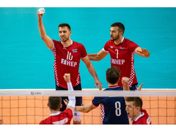 Croatian volleyball players at the European Championship
